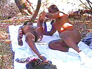 Hung Man Fucks His Sexy Girlfriend Outdoors