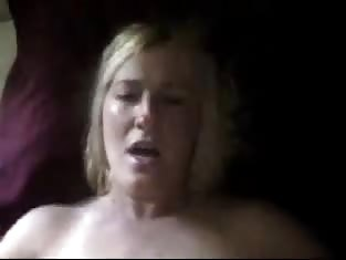 Older Blonde Takes a Cock in Her Wet Pussy