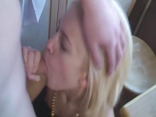 Blonde Girl Makes Sure She Pleases Her Man