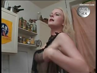 Naughty Blonde Has Fun With Her Silver Vibrator