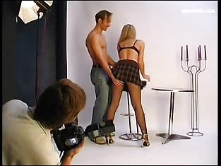 Horny Blonde Fucked By a Hung Stud at a Photoshoot