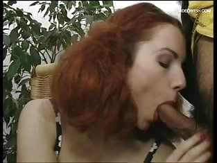 Redhead Gets Throat Fucked By Hung Man