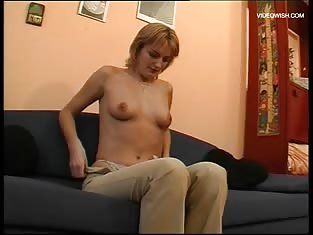 Girl in Stockings Gets a Hard Cock in Her Wet Pussy