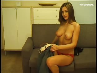 Girl With Amazing Body Masturbates on the Couch