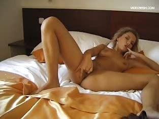 Blonde Has an Intense Masturbation Session