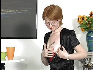 Hot Redhead in Red Gets PInk Pussy Fucked