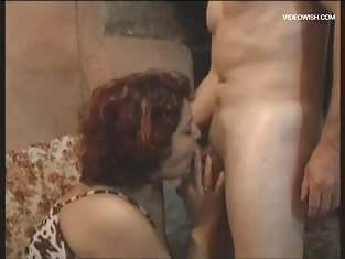 Girl Drops to Her Knees to Suck a Hard Cock