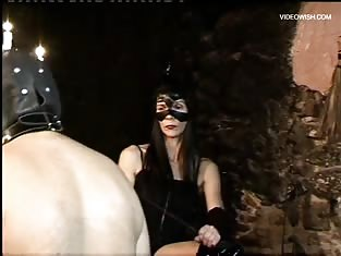 Mistress Instructs a Couple to Get Whipped in Front of Her