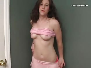 Teen in Pink Uses Her Fingers on Her Wet Pussy