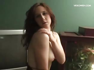 Horny Redhead Teen Showing Off Her New Skirt